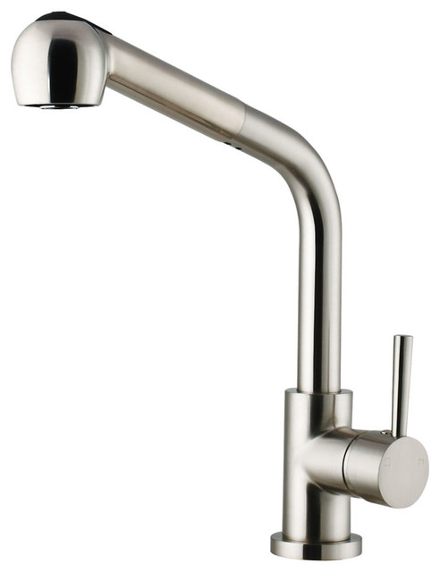 Stainless Steel Pull Out Spray Kitchen Faucet Modern Faucets