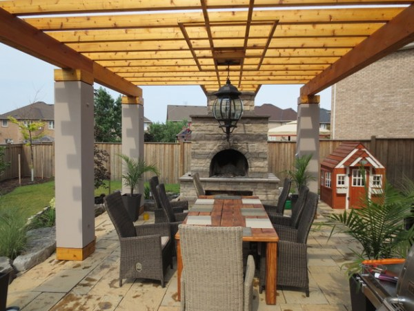 outdoor living space ideas for patios Outdoor living space - Pergola - Mediterranean - Patio