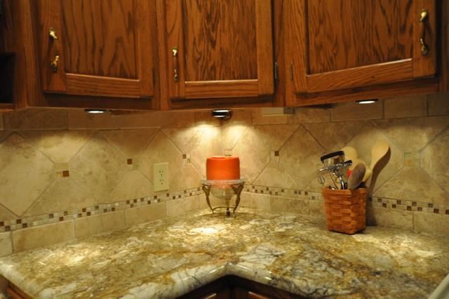 Granite Countertops and Tile Backsplash Ideas - Eclectic ... on Kitchen Backsplash Backsplash Ideas For Granite Countertops  id=27617