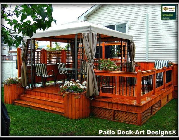 outdoor patio and deck ideas PATIO DECK-ART DESIGNS OUTDOOR LIVING - Traditional - Deck