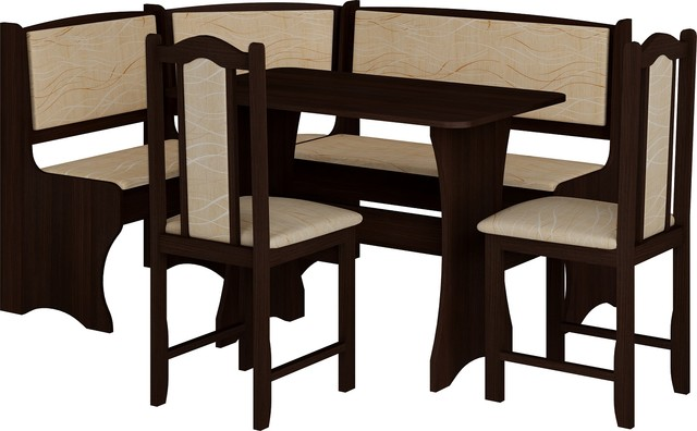 Breakfast Kitchen Nook Table Set L Shaped Storage Bench