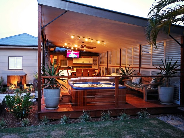 Outdoor Living - Enclosed Patio, Porch or Deck - Tropical ... on Enclosed Back Deck Ideas id=61358