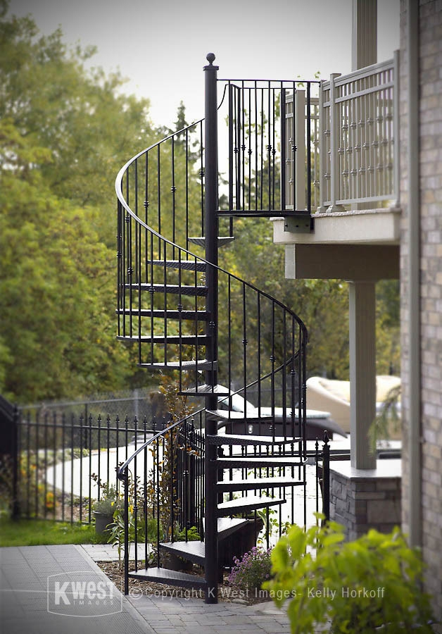 Wrought Iron Staircase Houzz | Outdoor Iron Staircase Designs | Round | Home Stair Design | Backyard | Spiral Staircase | Eye Catching