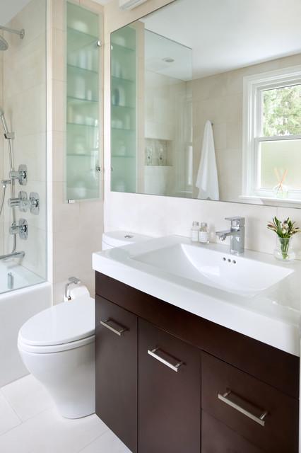 Small Space Bathroom - Contemporary - Bathroom - Toronto ... on Bathroom Ideas For Small Spaces  id=20697