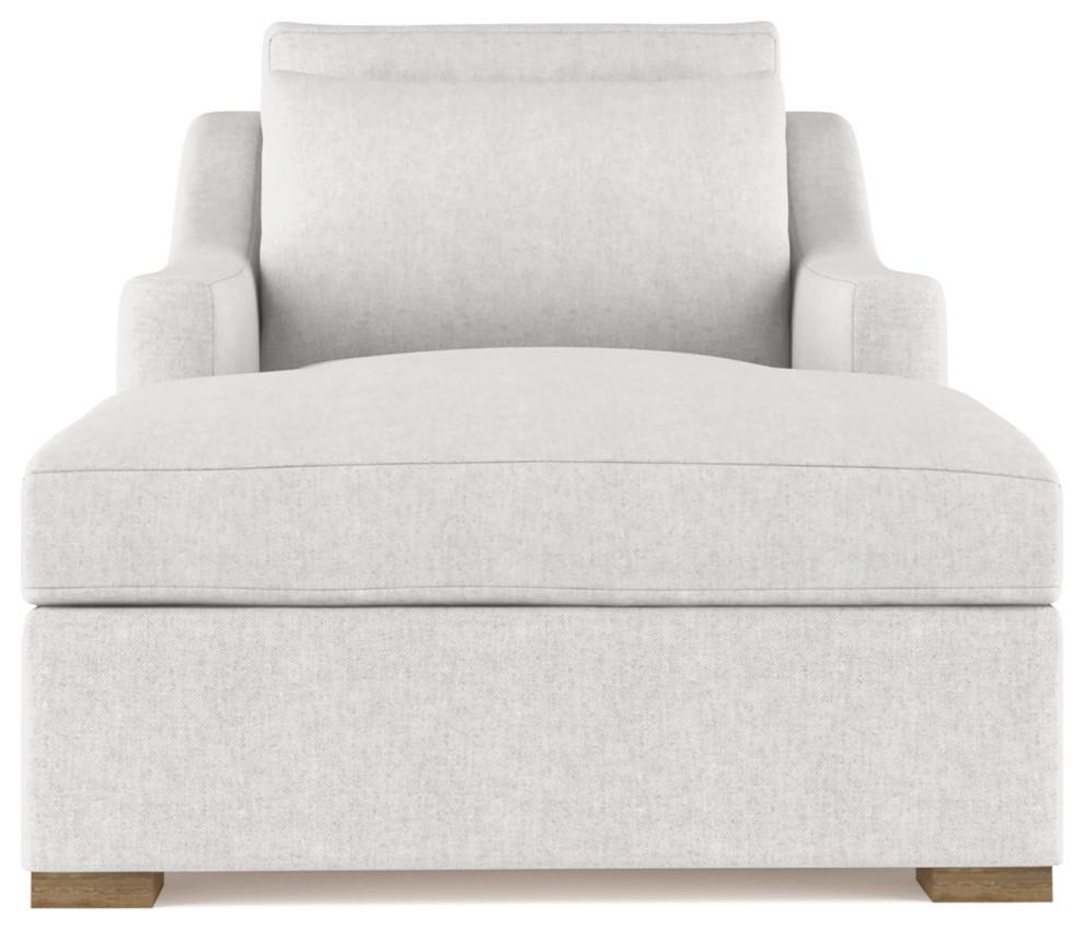 crosby plush velvet chaise silver streak