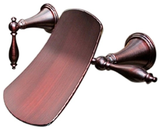 venetian oil rubbed bronze long dual handle wall mount faucet