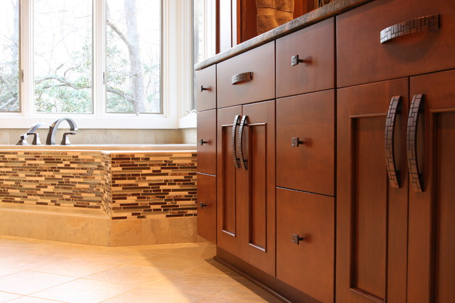Maple Wood Cabinets in Bathroom Remodel - Contemporary ... on Bathroom Ideas With Maple Cabinets  id=62584