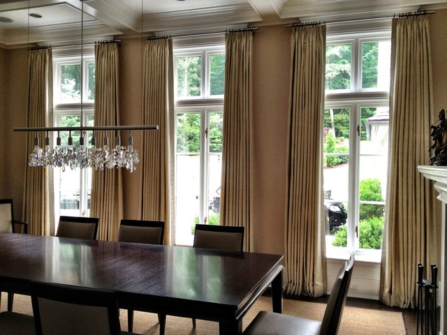 Curtains - Contemporary - Dining Room - New York - by ... on Dining Room Curtains  id=48982