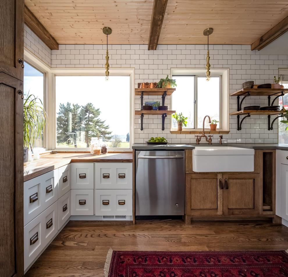 Small Rustic Farmhouse Kitchen - Farmhouse - Kitchen ... on Farmhouse Rustic Kitchen  id=20705