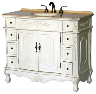 42quot AntiqueStyle Single Sink Bathroom Vanity Model 1905