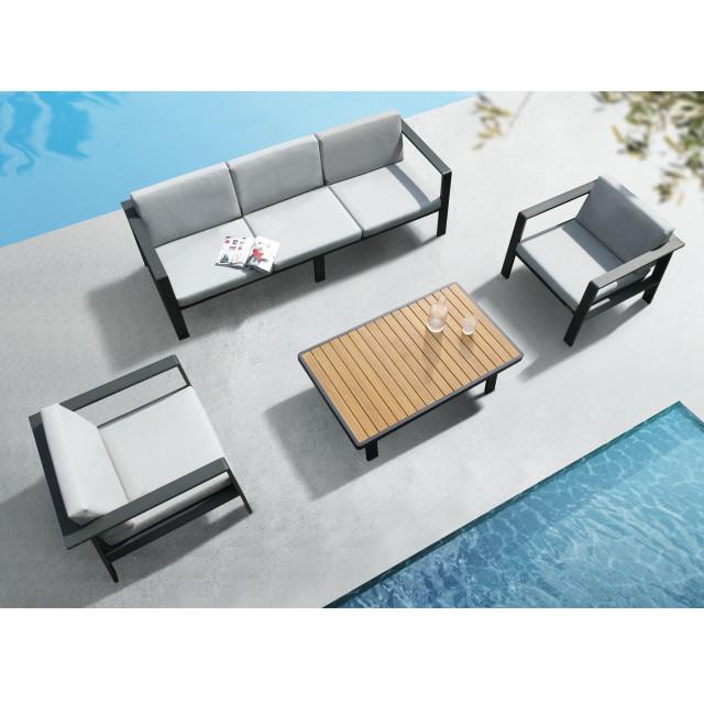 higold 3801 nofi patio furniture 1 piece single outdoor sofa with grey cushions