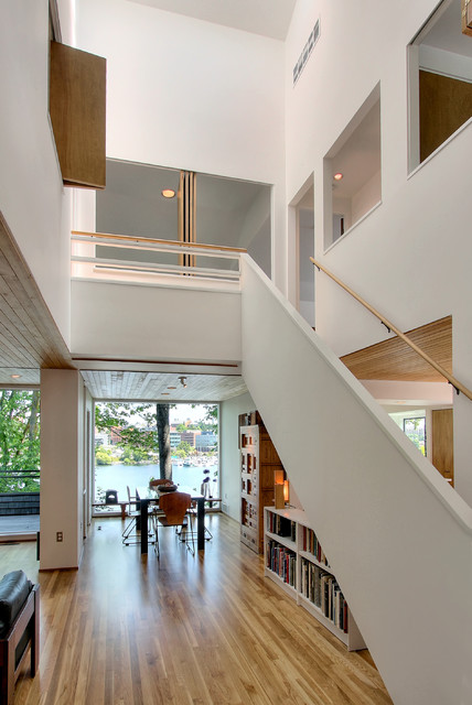 Contemporary House Atrium Modern Staircase Seattle By Renzo J Nakata Architects