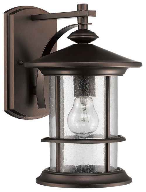 Sanibel Outdoor Wall Sconce, Rubbed Bronze