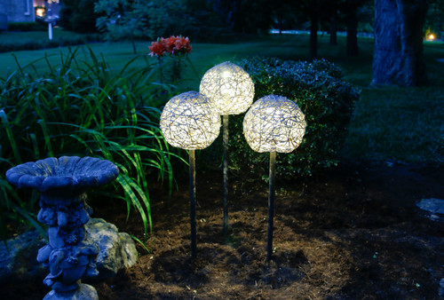 Plumbing Pipe Solar Globe Lamps