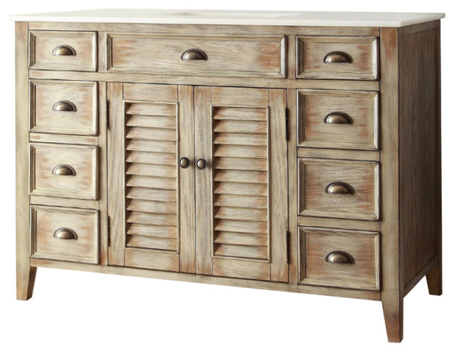 "abbeville sink vanity, 46"" - farmhouse - bathroom vanities and"