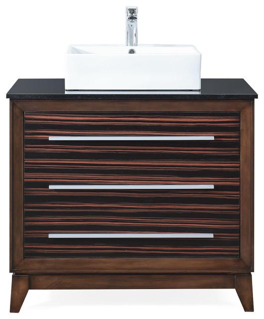36 stoughton vessel sink bathroom vanity