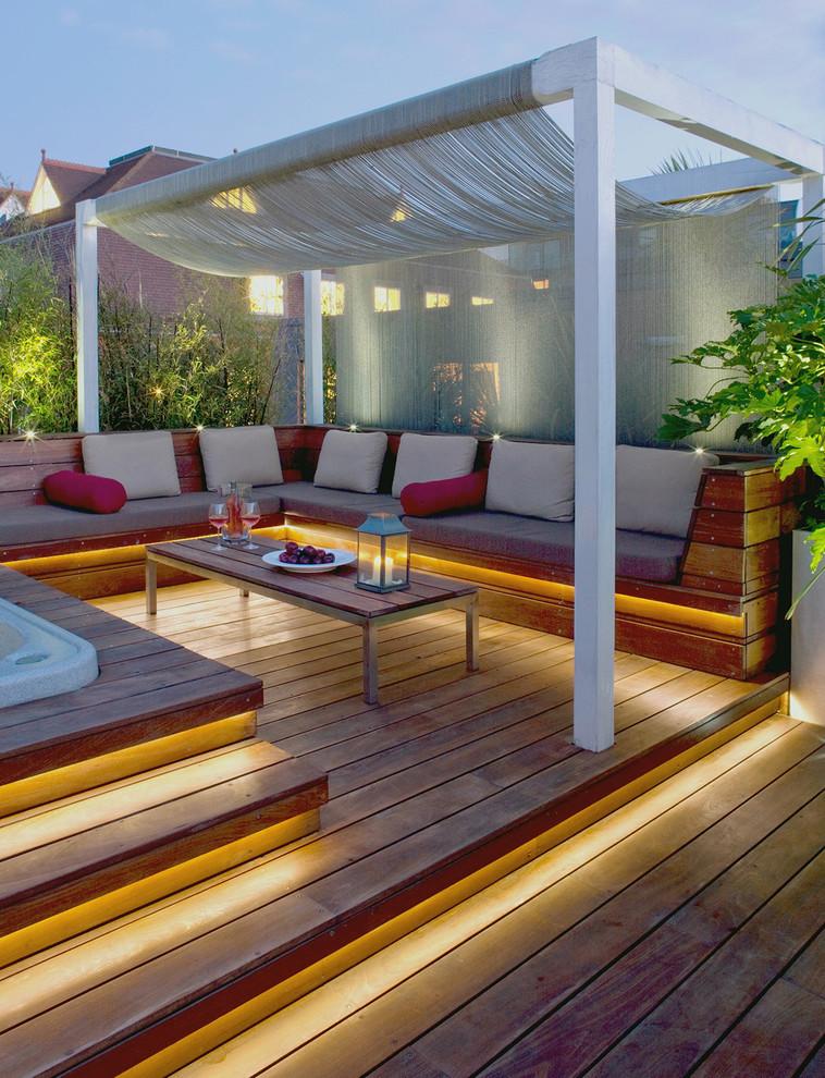 using walk decks and gardens