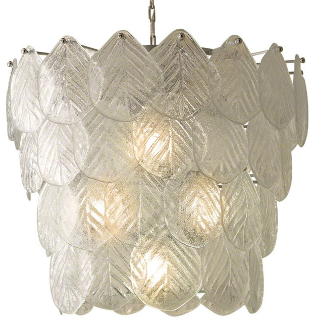 Global Views Murano Glass Leaf Chandelier Transitional Chandeliers