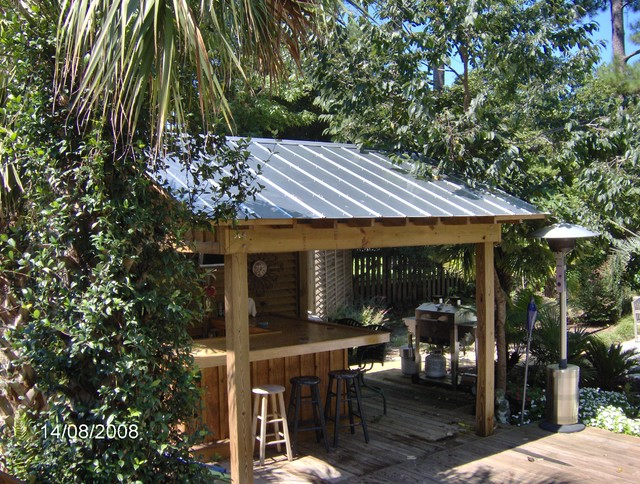 tiki hut - Tropical - Pool - Other - by TC Williams, LLC on Backyard Bar With Roof id=92777