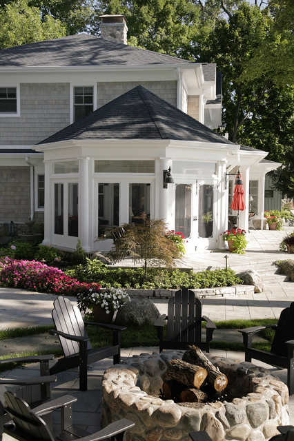 Lakefront Elevation - Traditional - Patio - Other - by ... on Lakefront Patio Ideas id=53909