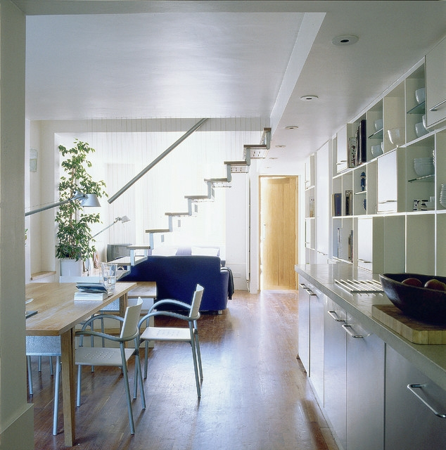 How Changing Or Moving A Staircase Can Unlock Your Interior Houzz Uk | Converting Spiral Staircase To Straight | Stair Case | Building Regulations | Handrail | House | Attic Stairs