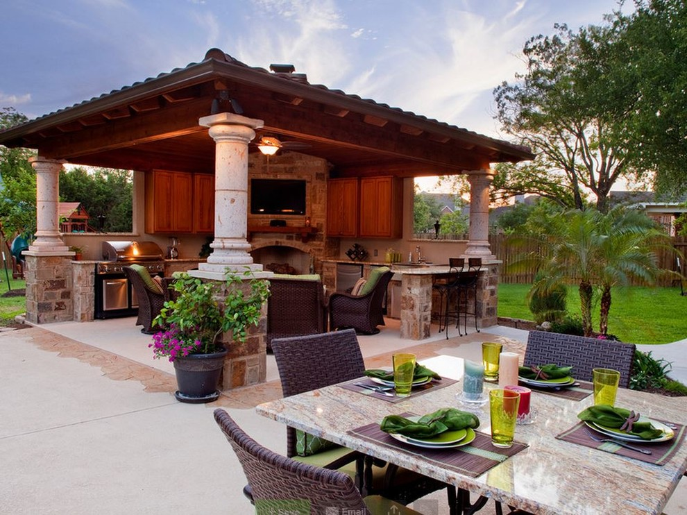 Outdoor Living Spaces - Traditional - Patio - Oklahoma ... on Ab And Outdoor Living  id=60787
