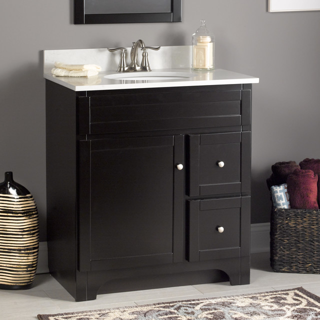 Worthington 30 Vanity In Espresso Transitional