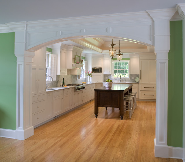 Kitchen With Custom Arch Traditional Kitchen