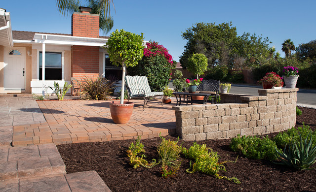 Front Yard Paver Patio Transformation in San Diego, CA ... on Front Yard Patio id=24398