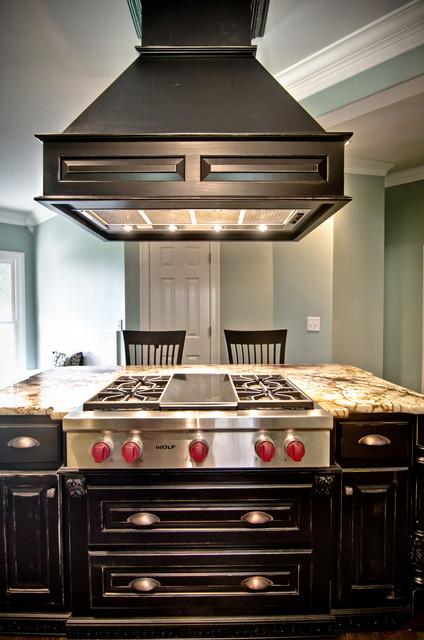 Custom Drop Down Wood Vent Hood Kitchen By Kirkland
