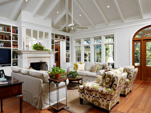 Gulf Coast Creole Cottage - Farmhouse - Living Room ... on French Creole Decorating Ideas  id=68327