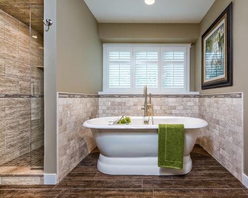 tile around freestanding tub
