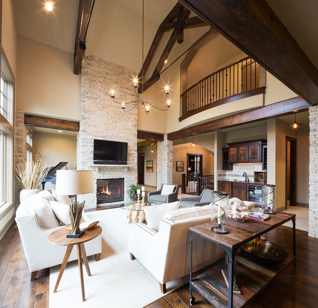 Model Home Starr Homes Llc Rustic Living Room Kansas City Part 71