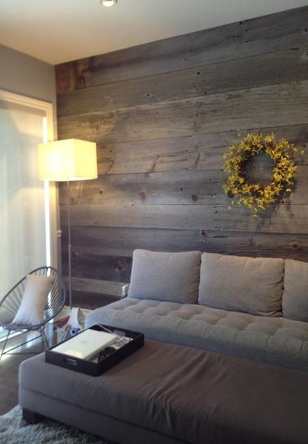 Barn Board Feature Walls Country Living Room Toronto By Part 22