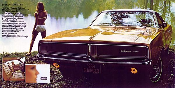 1969 dodge charger promotional advertising poster 8 5 x 11