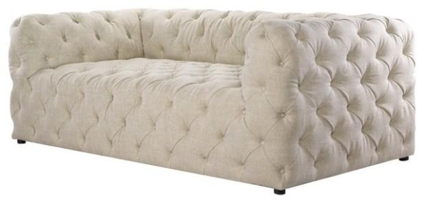 Empress Tufted Upholstered Sofa Centerfieldbarcom - Tufted upholstered sofa