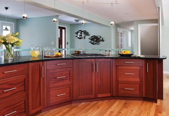 Ribbon Mahogany Kitchen Cabinets