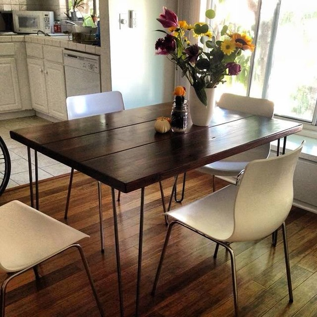 4ft Hairpin Leg Dining Table Modern Dining Tables Los Angeles By Saint Arbor