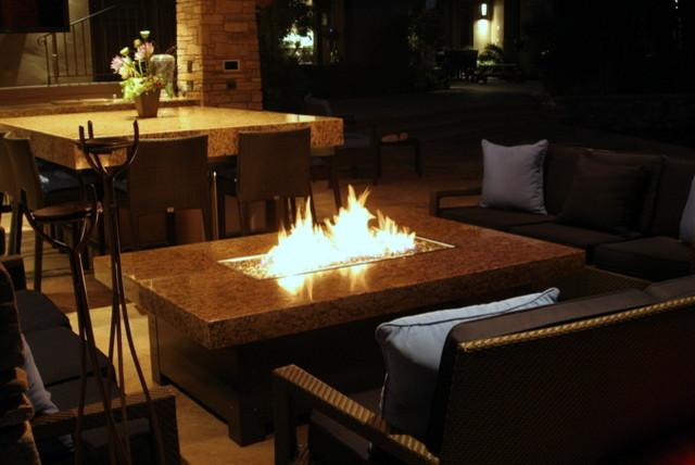 Large Balboa Fire Pit Table Mediterranean Patio San