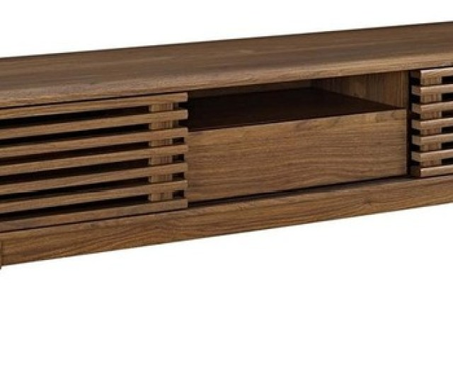 Mid Century Low Profile Tv Stand In Particleboard Enough Room For Any Device