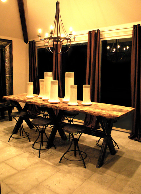 Amita Gathering Table Eclectic Dining Room Other