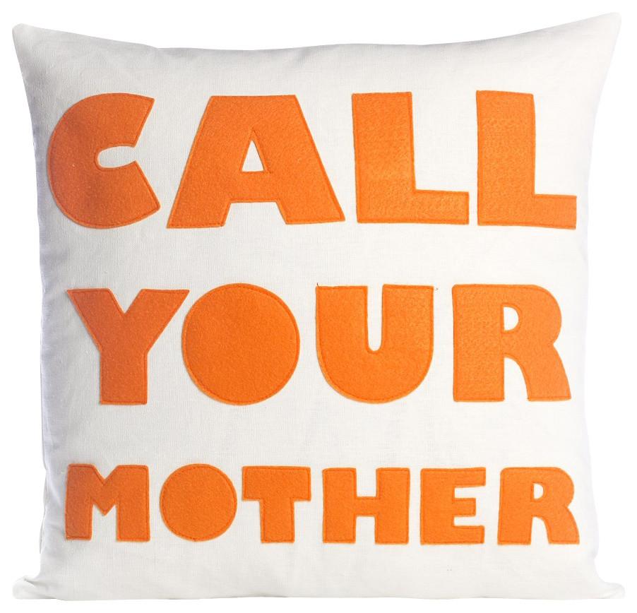 call your mother cream canvas orange