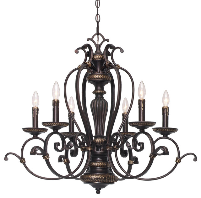 Jefferson 6 Light Candelabra Chandelier Traditional