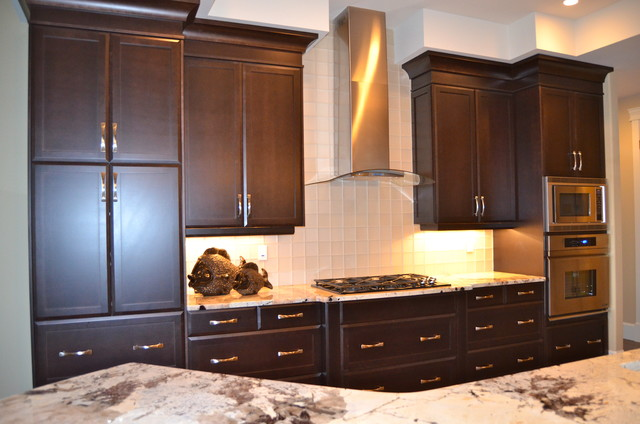 New Custom Maple Cabinets...dark stain - Traditional ... on Dark Maple Cabinets  id=96704