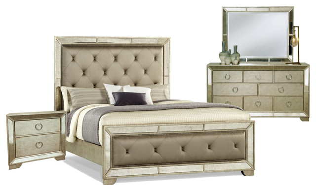pulaski furniture farrah panel bedroom set california king