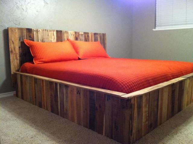 Pallet bed - Contemporary - Bedroom - dallas on Pallet Bedroom  id=62120