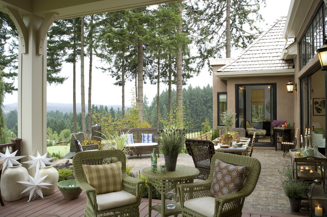 French Country Elegance - Traditional - Patio - Portland ... on Country Patio Ideas id=49354