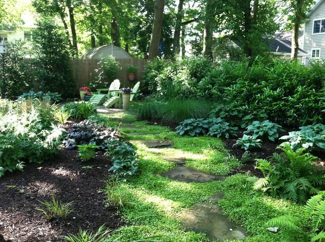 Small Shady Backyard - Traditional - Landscape - New York ... on Shady Yard Ideas  id=98976