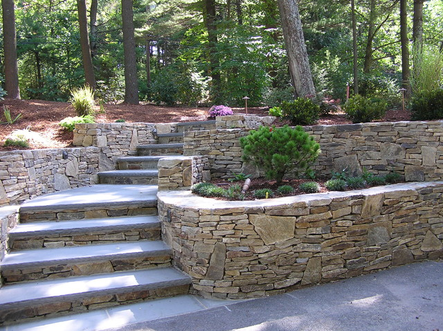 A New and Inviting Hillside Entrance - Traditional ... on Tiered Yard Landscaping id=21444