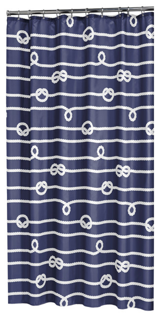 extra long shower curtain 72 x 78 sealskin nautical rope blue fabric